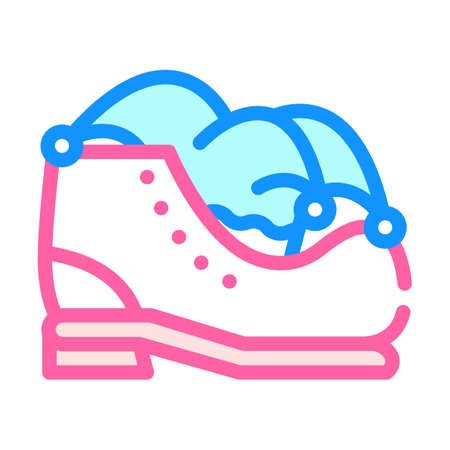 clown boot and hat color icon vector illustration