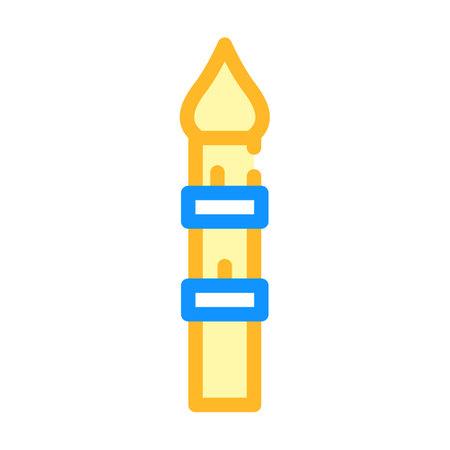 minaret tower color icon vector illustration flat 矢量图像