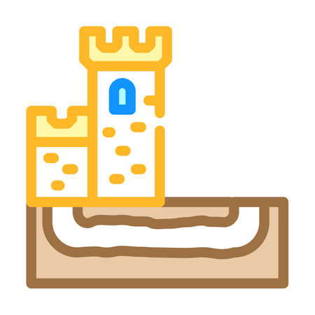 secret tunnel of castle color icon vector illustration