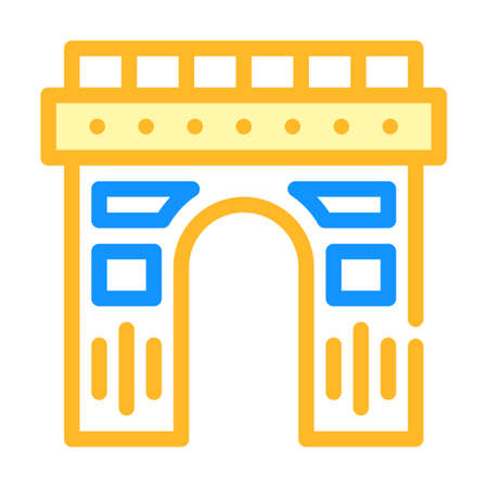 arch construction color icon vector illustration flat