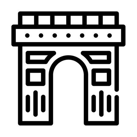 arch construction line icon vector illustration black