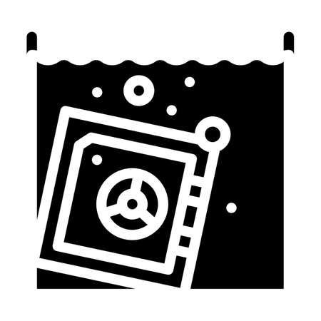 safe in water focus glyph icon vector illustration