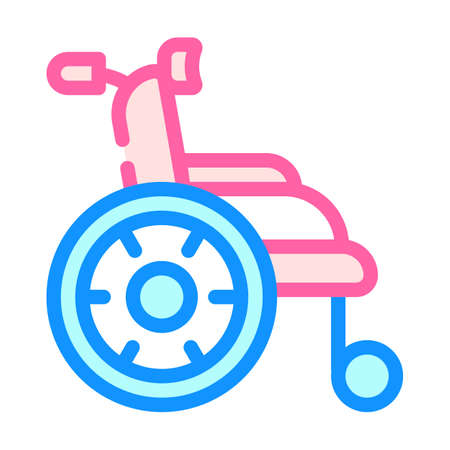 wheelchair for patient color icon vector illustration