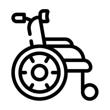 wheelchair for patient line icon vector illustration 向量圖像