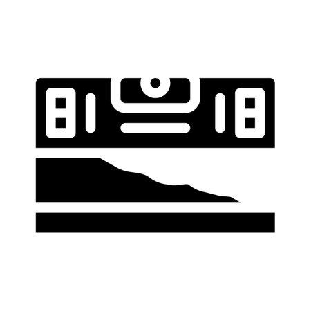 building level glyph icon vector illustration black