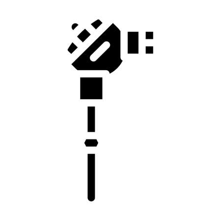 resistance thermometer glyph icon vector illustration black