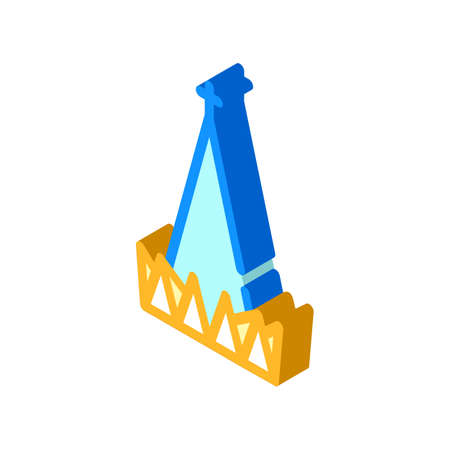 cathedral small basilica of glorious mother of god isometric icon vector illustration
