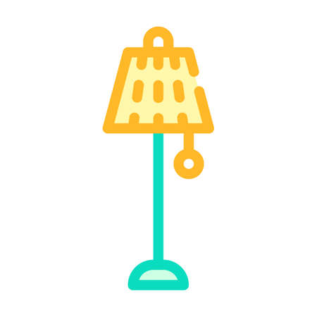 floor lamp vintage color icon vector illustration Ilustrace