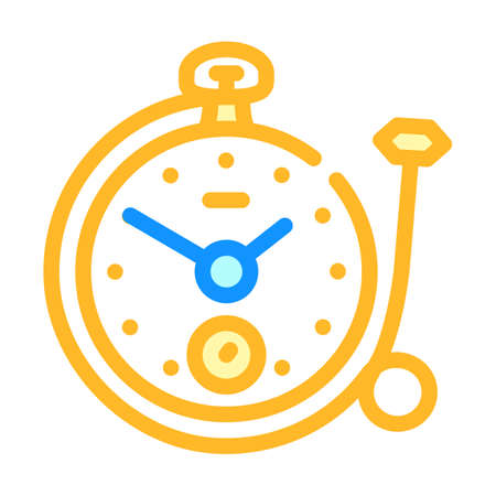 clock with ring color icon vector illustration