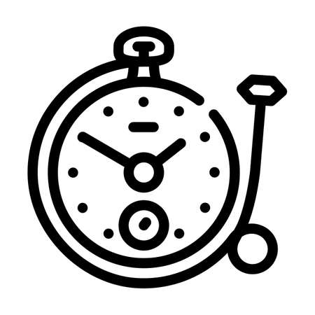 clock with ring line icon vector illustration