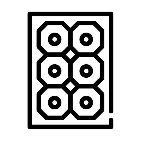 sun concentrator line icon vector illustration black Иллюстрация