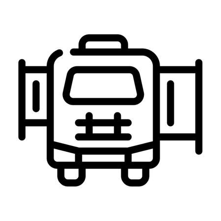 mobile house with pull-out module line icon vector illustration