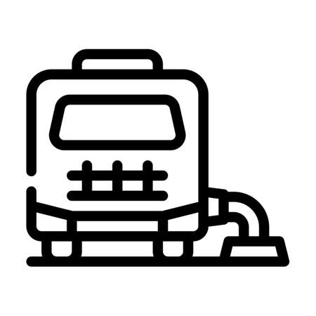 mobile home connection to cesspool line icon vector illustration Vettoriali