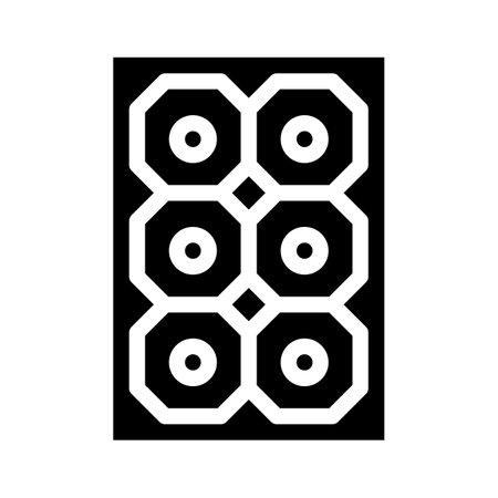 sun concentrator glyph icon vector illustration black