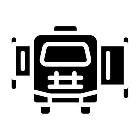 mobile house with pull-out module glyph icon vector illustration