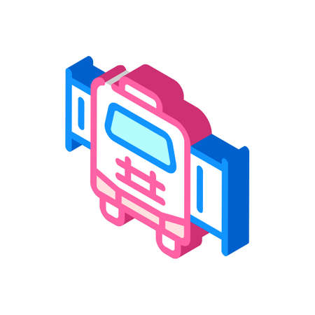 mobile house with pull-out module isometric icon vector illustration Vettoriali