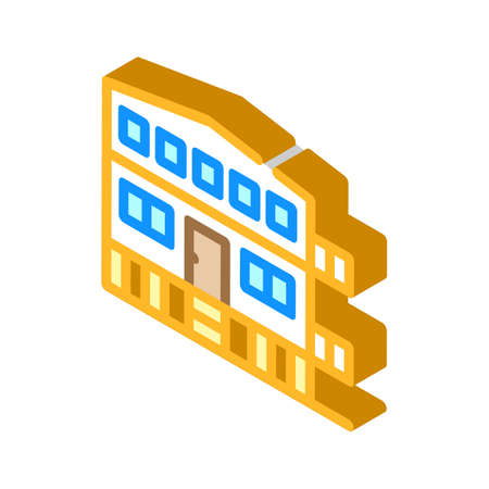 mobile house on stilts isometric icon vector illustration