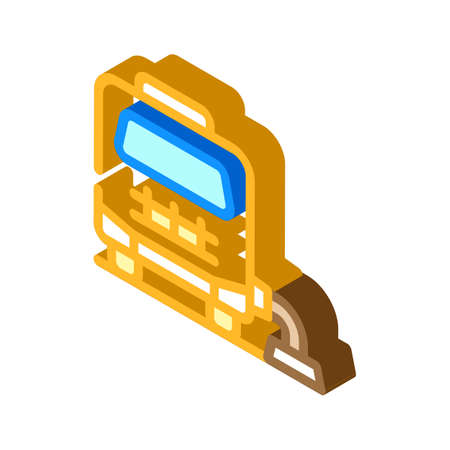 mobile home connection to cesspool isometric icon vector illustration