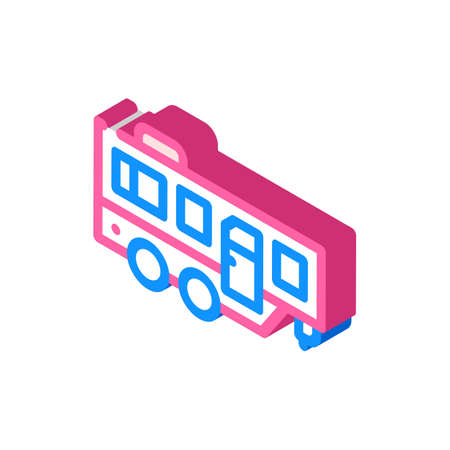 trailer mobile home isometric icon vector illustration