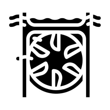 submarine tidal power plant glyph icon vector illustration 矢量图像