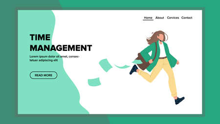 Time Management Planning And Organization Vector flat