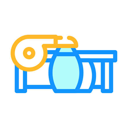 suction units color icon vector illustration flat