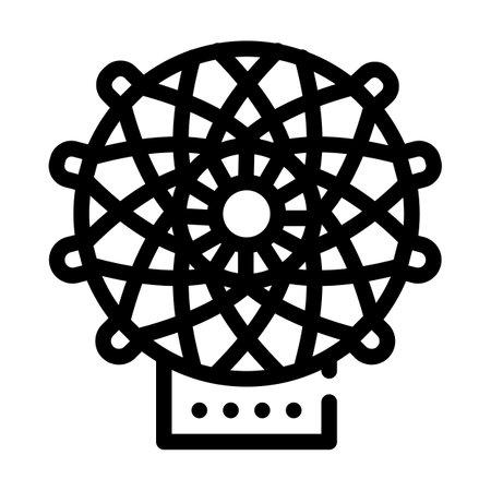 carbon fiber weaving loom line icon vector illustration