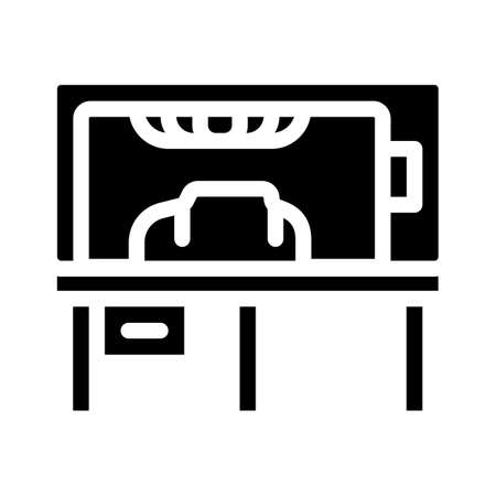 vacuum forming of plastic glyph icon vector illustration