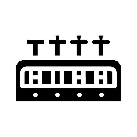analysis tubes glyph icon vector illustration flat