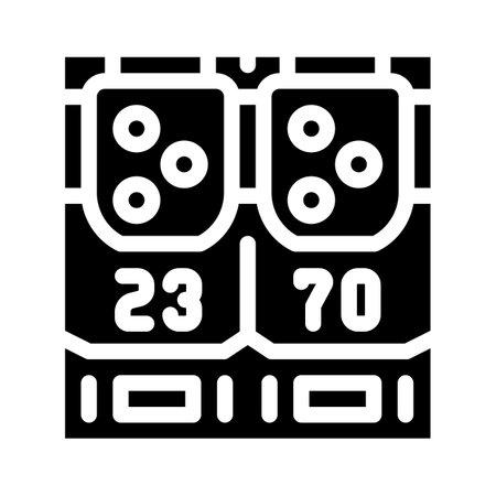 game panel glyph icon vector illustration flat