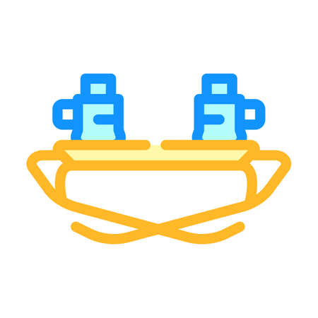 restorer glasses color icon vector illustration color