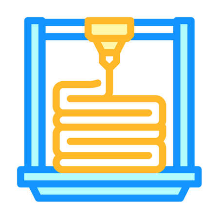 layers of 3d printing color icon vector illustration