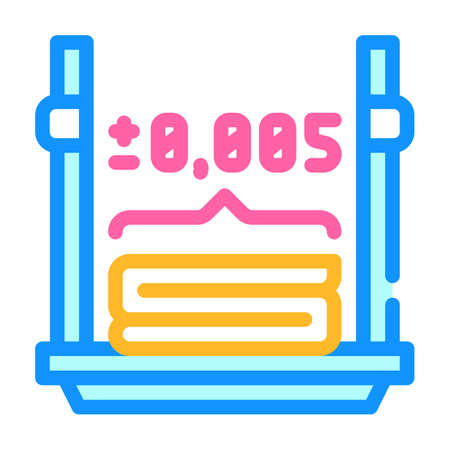 accuracy of 3d printing color icon vector illustration