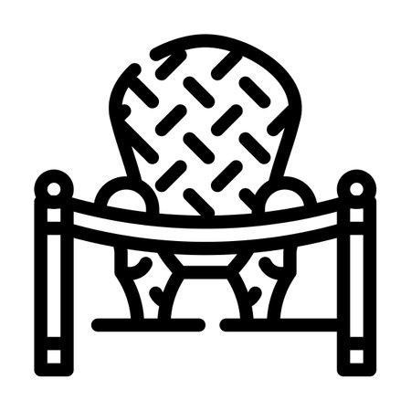 furniture museum exhibit line icon vector illustration