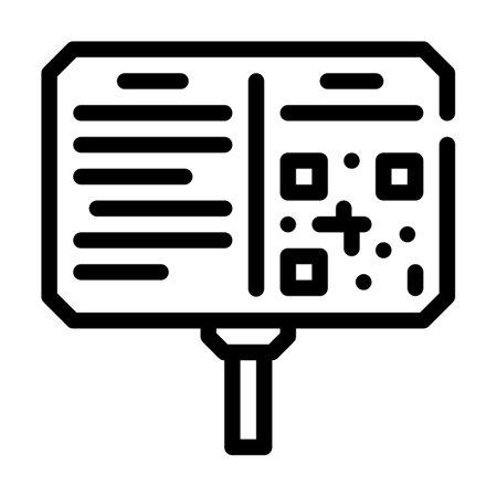 annotation plate museum exhibit line icon vector illustration Vecteurs