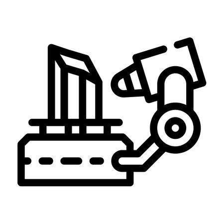 3d scanner line icon vector illustration flat 向量圖像