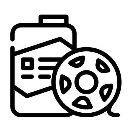 coils and jar with photopolymer line icon vector illustration
