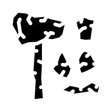 stone age things museum exhibit glyph icon vector illustration Vecteurs