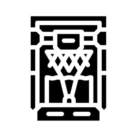 based on stereolithography 3d printer glyph icon vector illustration