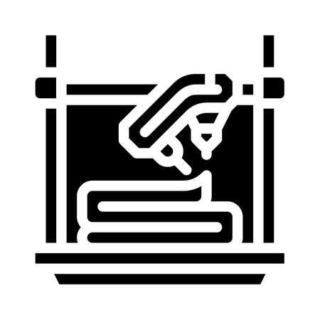 uv flash fused printer glyph icon vector illustration Ilustração