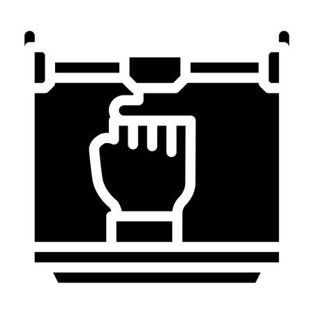 prostheses 3d printing glyph icon vector illustration 向量圖像