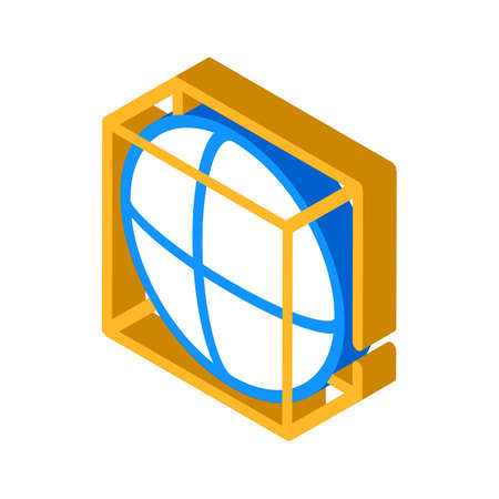 complex details isometric icon vector illustration color