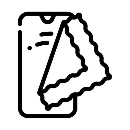 phone rag line icon vector illustration flat