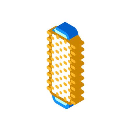 roller microfiber isometric icon vector illustration flat