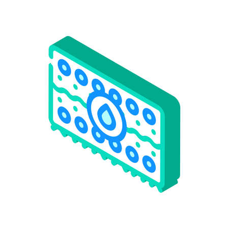 water absorption isometric icon vector illustration flat