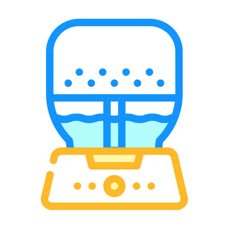 air purifier and humidifier color icon vector illustration