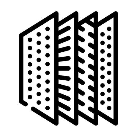 structure filter line icon vector illustration flat
