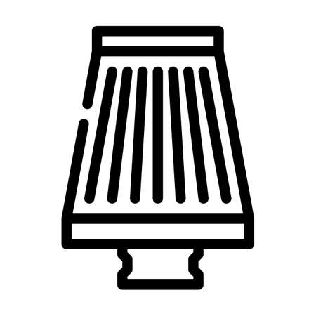 filter air cleaner accessory line icon vector illustration