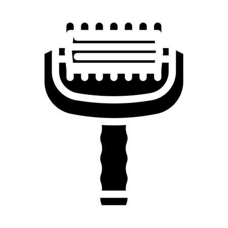 massager tool glyph icon vector illustration flat