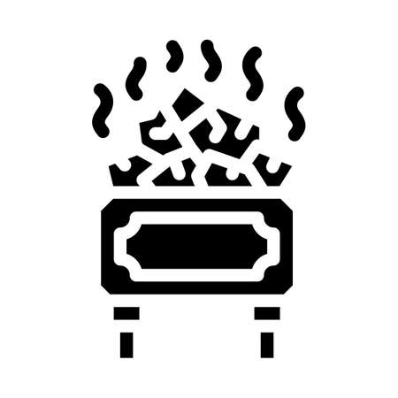 sauna relax glyph icon vector illustration flat